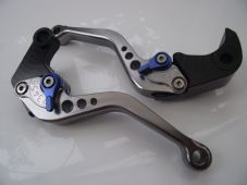 Yamaha MT09/FZ9 (14-15), CNC levers short titanium/blue adjusters, F16/Y688